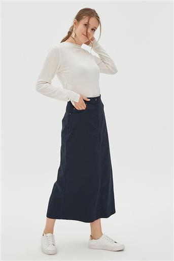 Skirt-Navy Blue KA-B20-12022-11