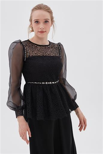Blouse-Black KA-B20-10038-12