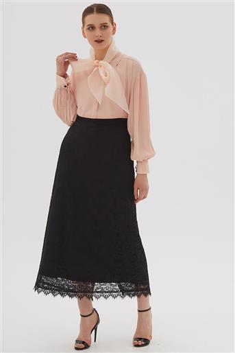 Skirt-Black KA-B20-12037-12