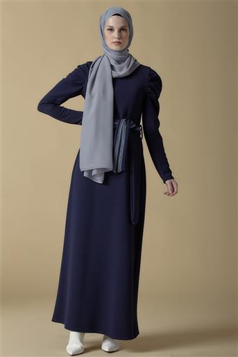 Armine Kemer Detaylı Elbise Lacivert 9K9816