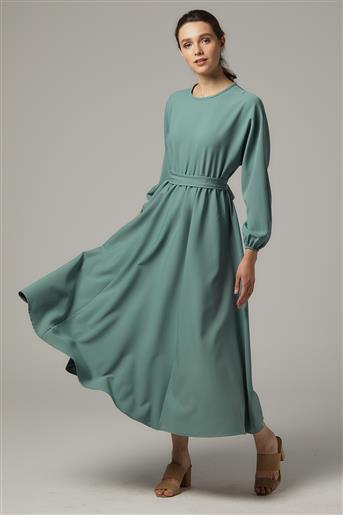 A Kesim Elbise-Siyah-Mürdüm UU-0S7069-24