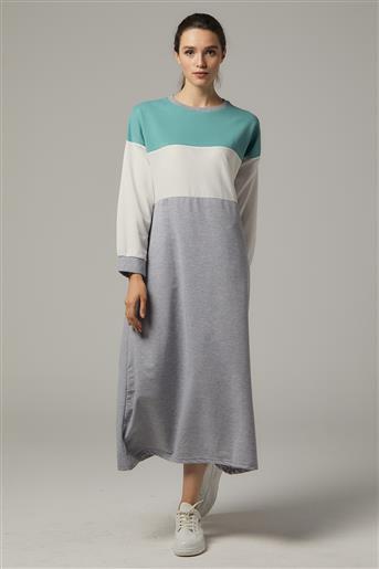 Elbise-Yeşil-Gri UU-0S603-21-04