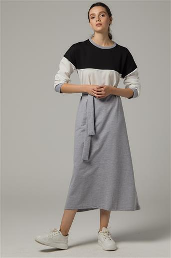 Spor Elbise-Siyah Gri UU-0S603-01-04
