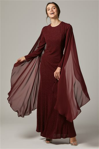 Evening Dress-Claret red 1311-67