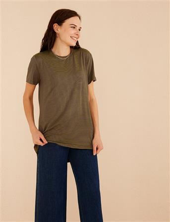 Basic T-shirt Olive B20 10119