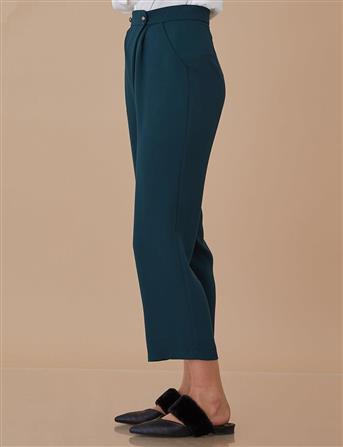 Pilili Anvelop Bol Pantolon Yeşil A8 19101