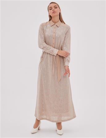 Dress-Beige KA-A20-23106-08