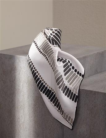 Twill Silk Scarf Gray B9 ESP03