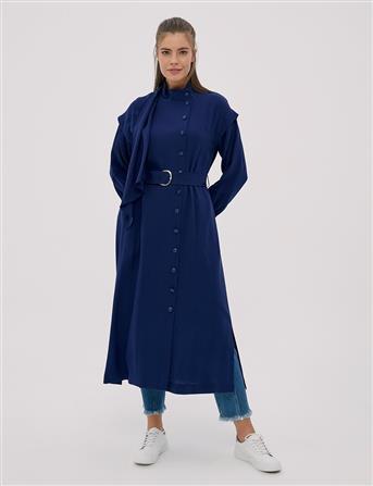 Yandan Düğmeli, Yırtmaçlı Giy-Çık Saks B20 25015