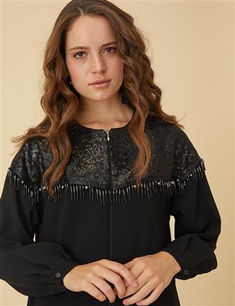 Pul Payet Detaylı Giy-Çık Siyah B9 25057