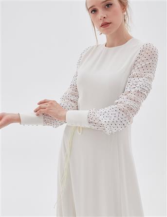 Elbise-Op. Beyaz KA-A20-23003-02