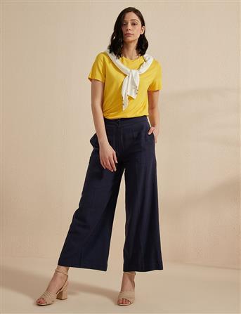 Basic Kısa Kol T-Shirt Sarı B20 10118