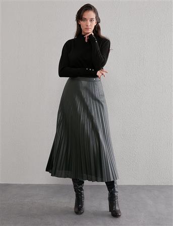 Basic Triko Bluz Siyah SZ TRK05