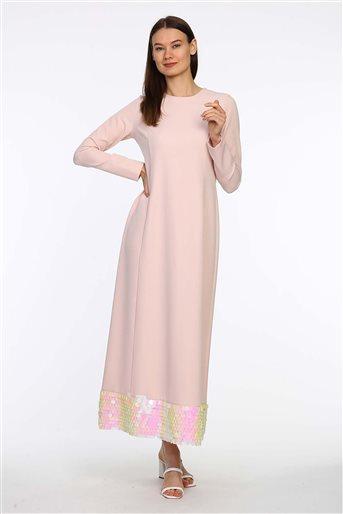 5022-41 فستان-لون البودرة