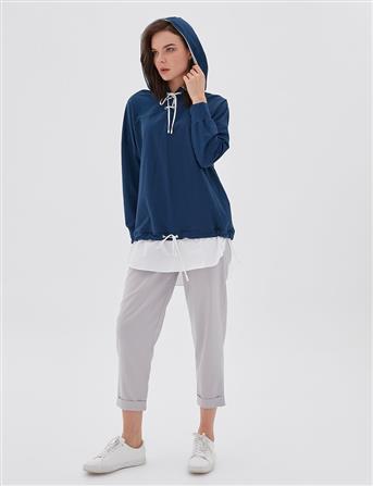 2 Parça Görünümlü Sweatshirt Lacivert B20 21100