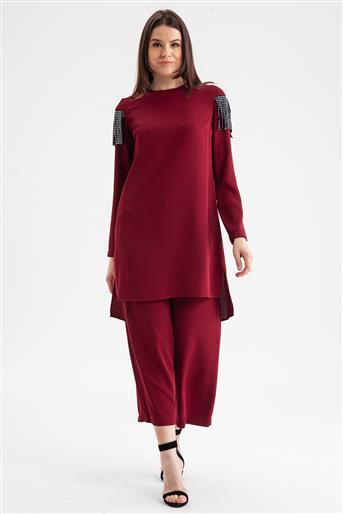 Suit-Claret Red V19KTKM43008-24