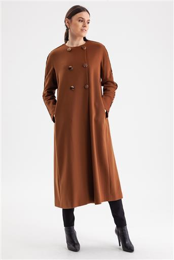Coat-Milk Brown V19KKBN25004-37