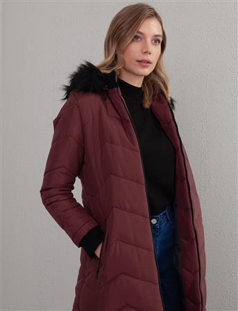 Coat-Claret Red KA-A20-27101-26