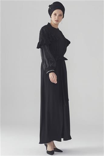 ZÜHRE Kol Şerit Detaylı Siyah Abiye ABY-0013 Z20YB0013ABY101-R1210