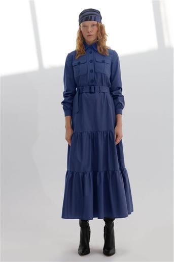 Elbise-İndigo V20KELB17050-35