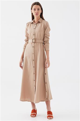 111627-72 فستان-بني مينك