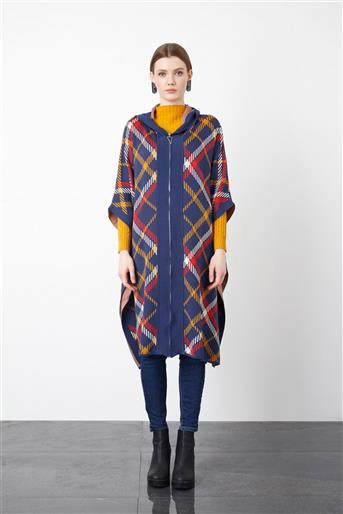 Patterned Knitwear Poncho 9398