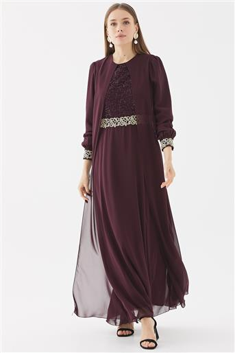 Evening Dress-Plum 110270001-51