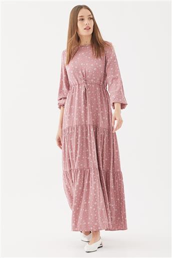 1160802-53 فستان-زهري