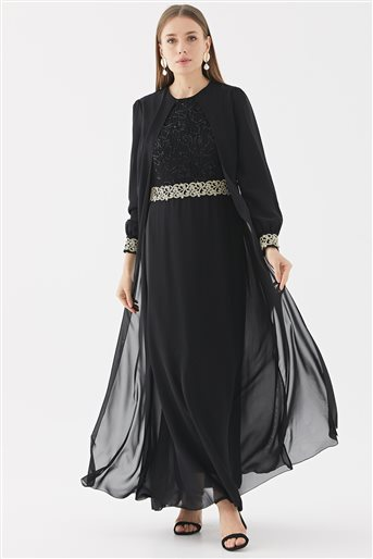 Evening Dress-Black 110270001-01