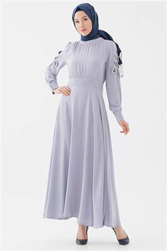 Elbise-Gri DO-B20-63013-07