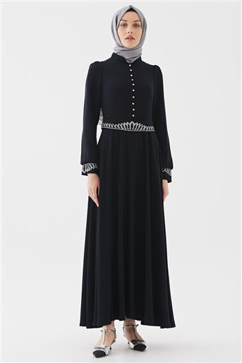 Elbise-Lacivert DO-B20-63015-11