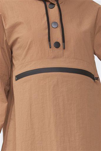Kangru Cepli Yağmurluk Sweat-Camel 2671.SWT.493.1-46