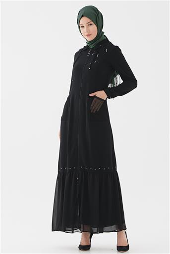 Abaya-Black 720YFRC64004-01
