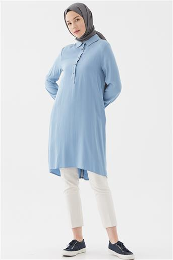 Tencel Tunik-Mavi DO-B20-61061-09