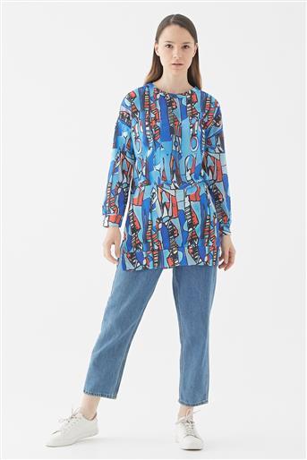 Renkli Tunik-Mavi 118003-70