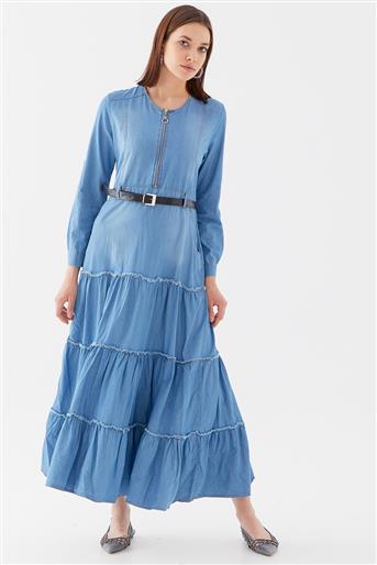Elbise-Açık Mavi 10220006-15