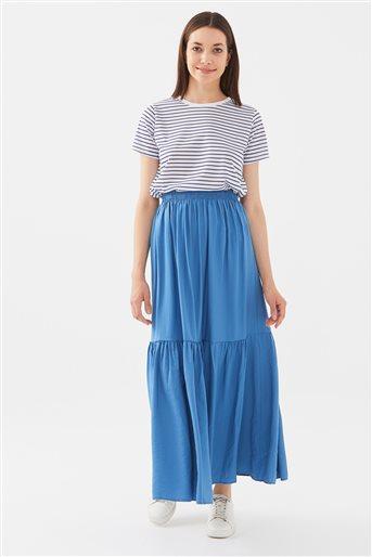 Skirt-İndigo 1180016-83