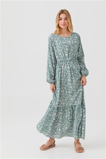 1180025-24 فستان-أخضر