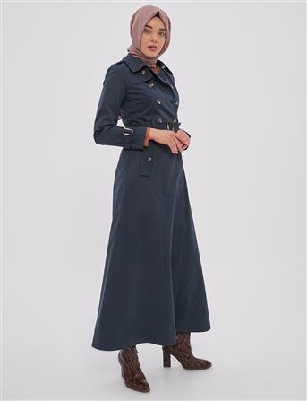 Topcoat-Navy Blue Kayra-KA-A20-15008-11