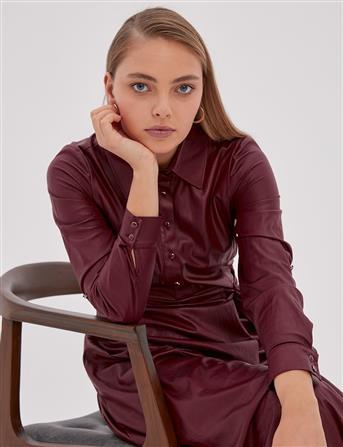 Elbise-Bordo KA-A20-23110-26