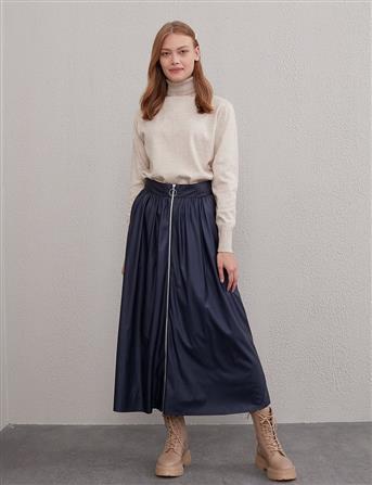 Skirt-Navy Blue Kyr-KY-A20-72099-11