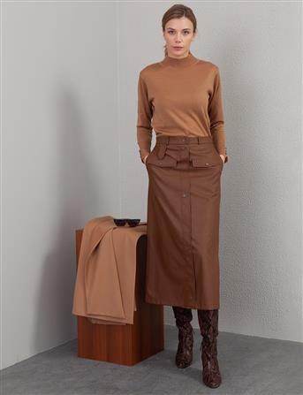 Skirt-Camel Kyr-KY-A20-72053-06