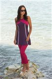 Covered Swimsuit-Purple 1809-45