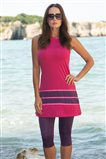 Covered Swimsuit-Fuchsia 1806-43