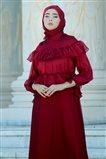 Nurbanu Kural Evening Dress-Aden-20164-Claret Red-67
