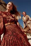 ZÜHRE Plise Detaylı Elbise Kiremit E-0178 Z20KB0178ELB100001-R1144