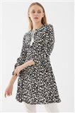 Flower Patterned Tunic-Black UA-1S10045-01