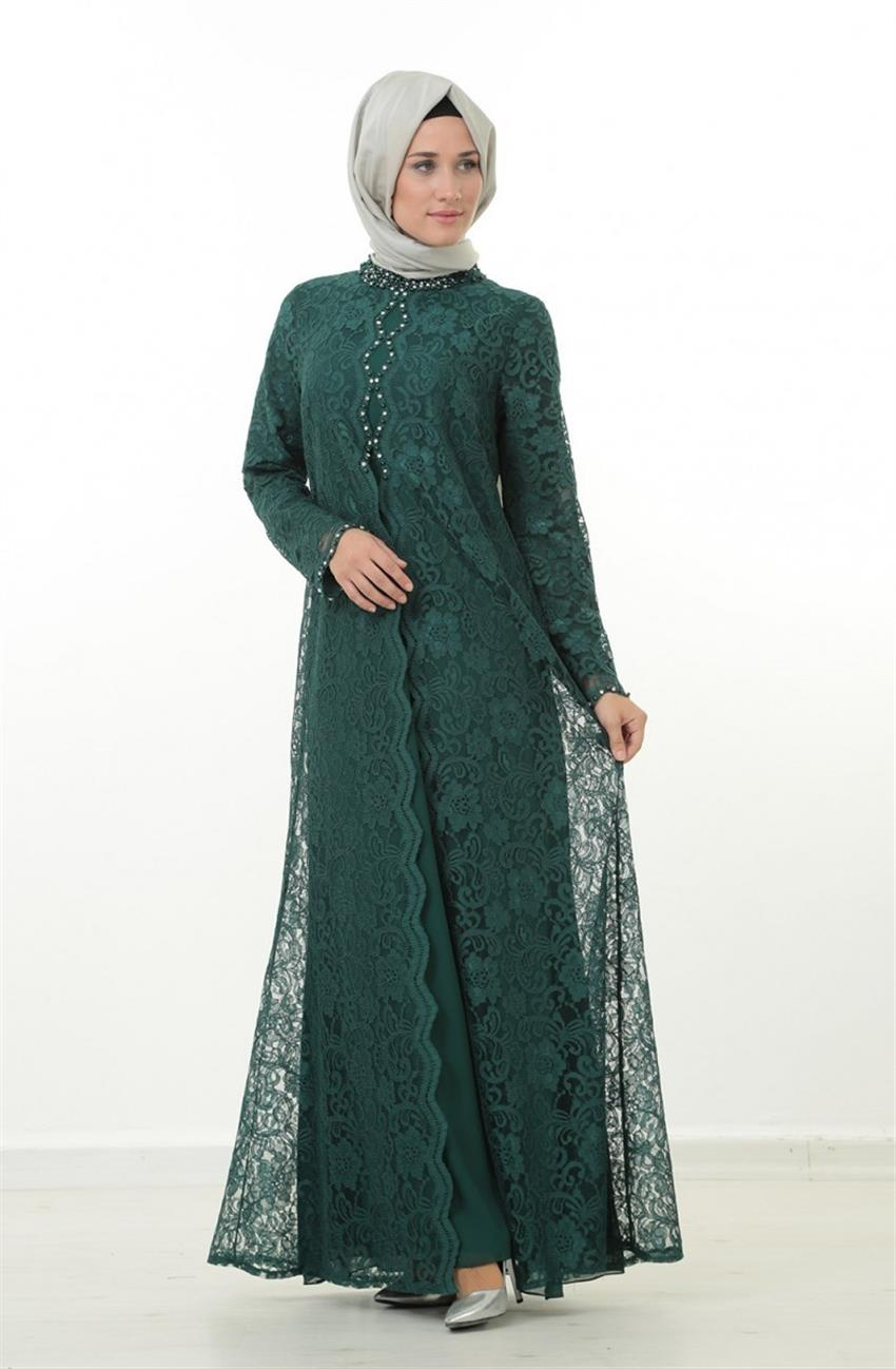 Evening Dress Dress-Green 1165-21 - 5