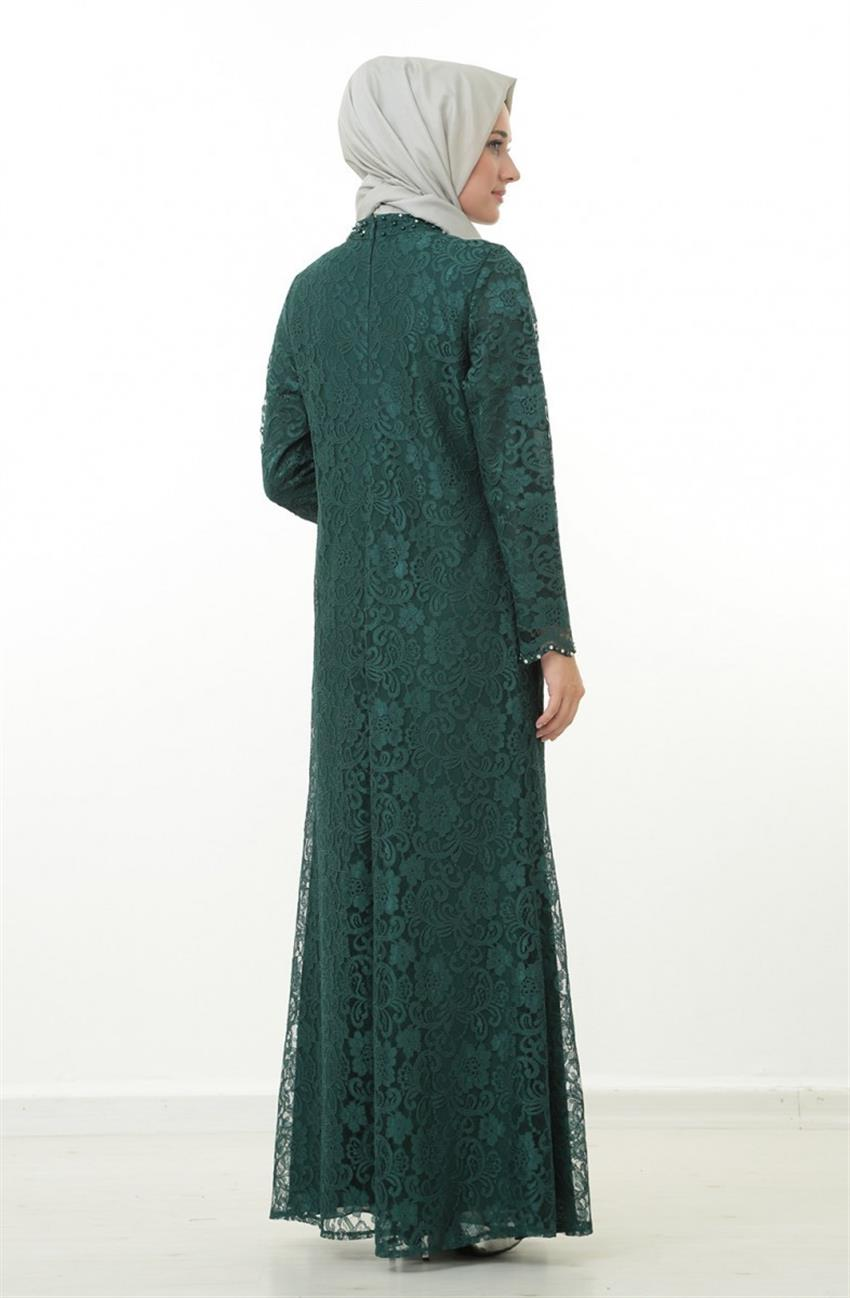 Evening Dress Dress-Green 1165-21 - 8