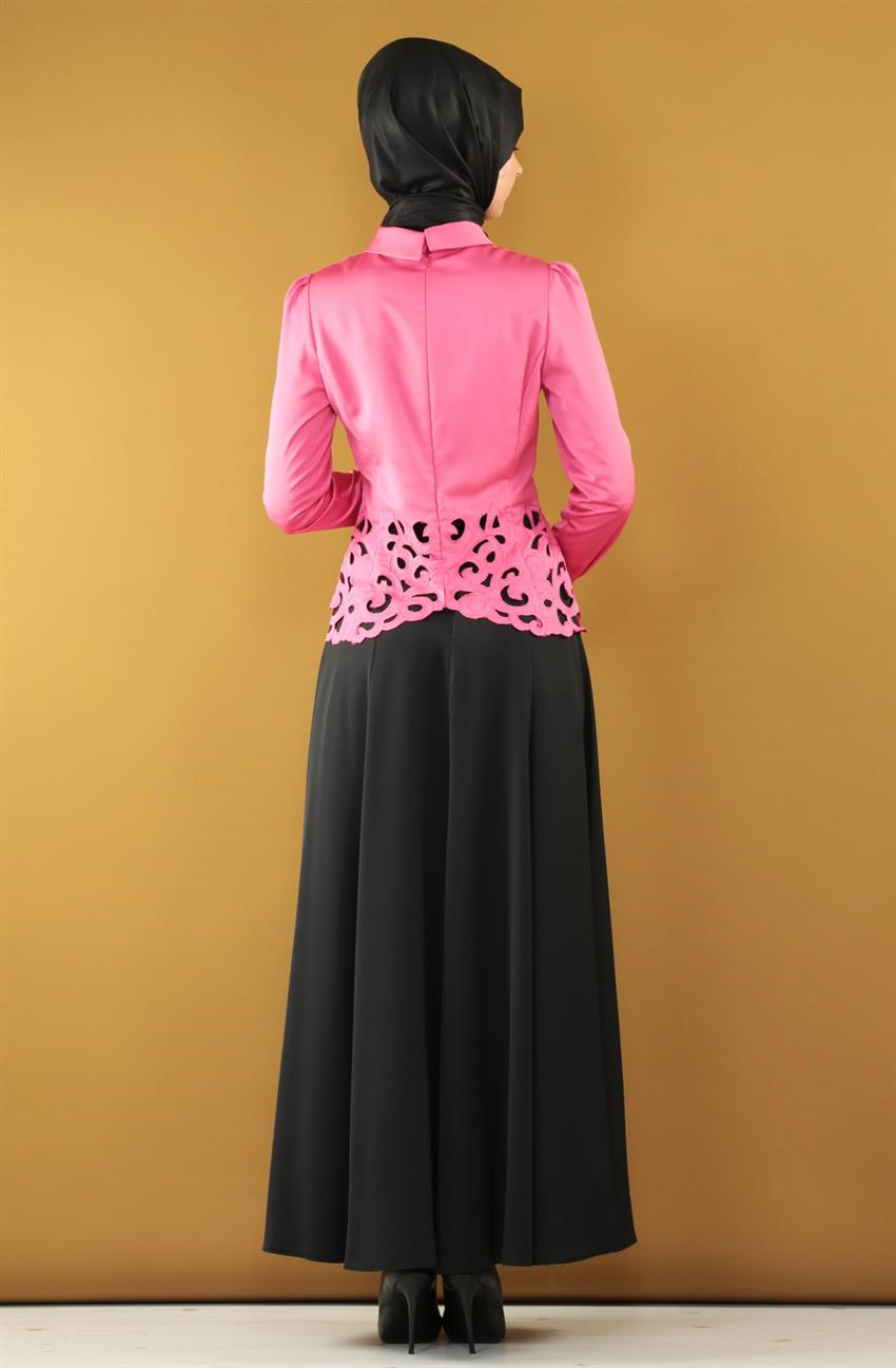 Suit-Pomegranate Flower Black KA-B5-16006-10712 - 6